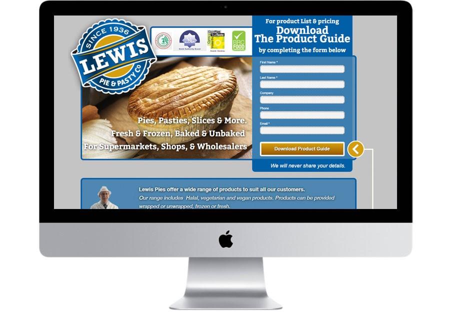 Lewis Pies landing page