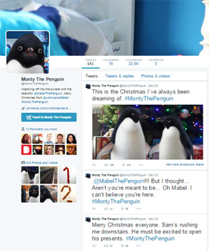 Monty the Penguin on Twitter