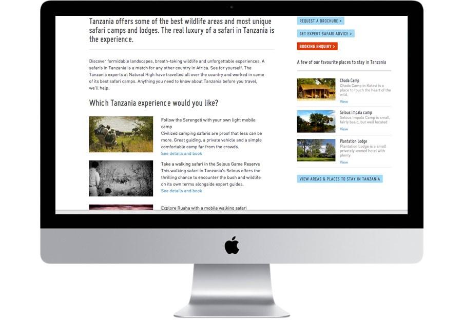Natural high safaris page example