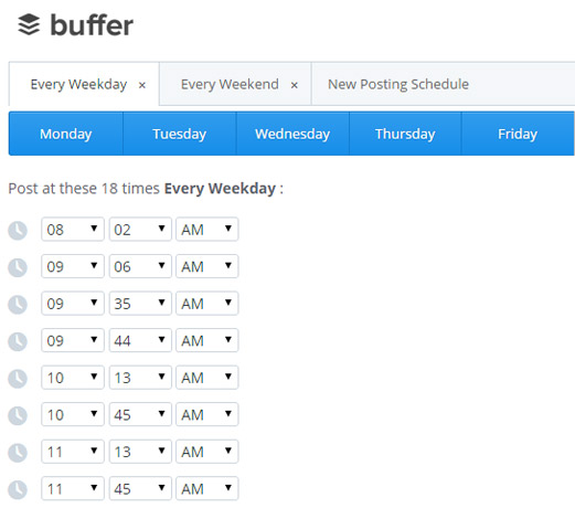 Buffer posting scheduler