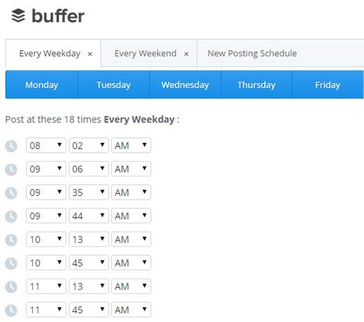 Buffer posting scheduler