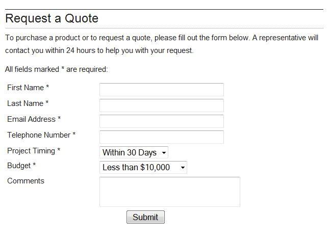 Generic website contact form