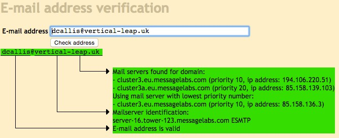 Mailtester screenshot