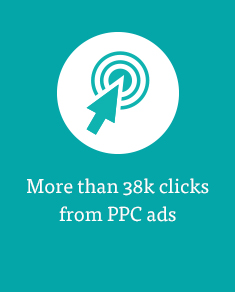 More than 38k clicks from PPC ads