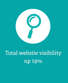 Total website visibility up 19%