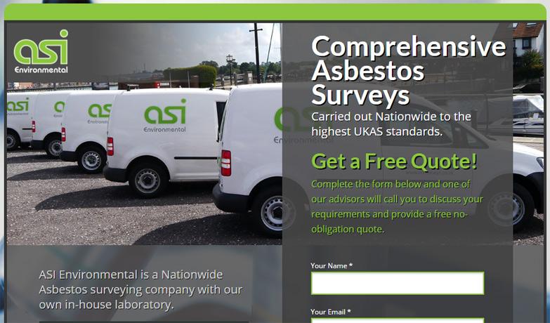 ASI Asbestos landing page