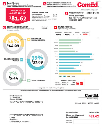Comed energy bill infographic style