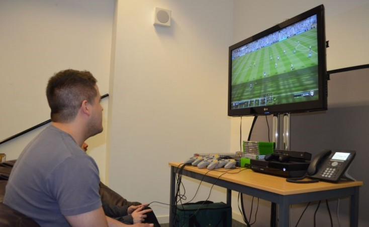 A break from web design in our Portsmouth office Fifa room