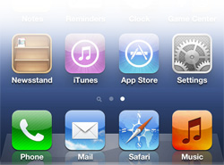 iPhone operating system icons