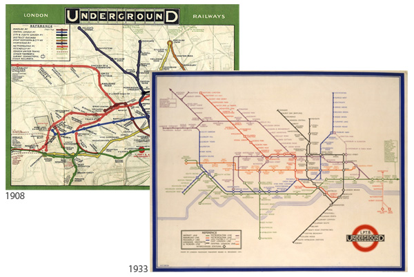 London Underground historic maps
