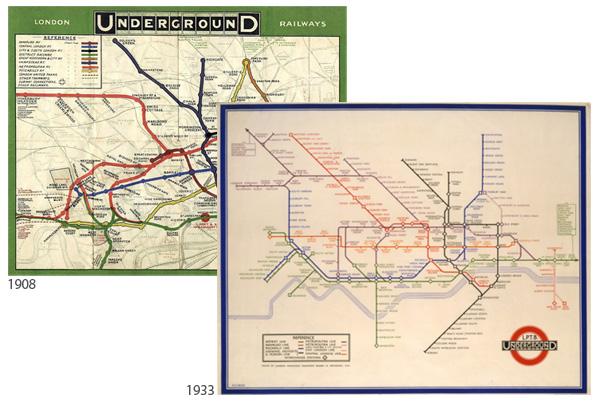 London Underground historic maps