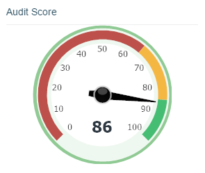 Audit score dial in Apollo Insights