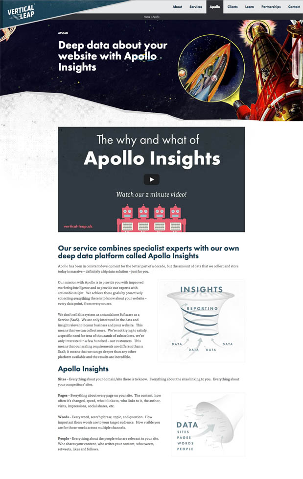 Apollo Page from the Vertical Leap site