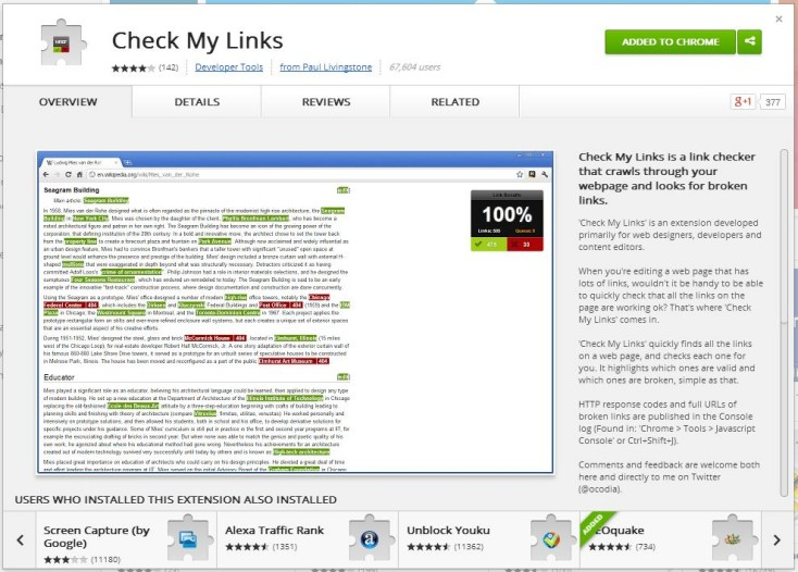 Check My Links tool