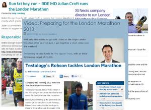 Marathon story - preparing for London Marathon 2013