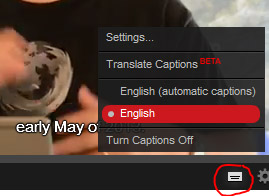 YouTube turnon captions screenshot