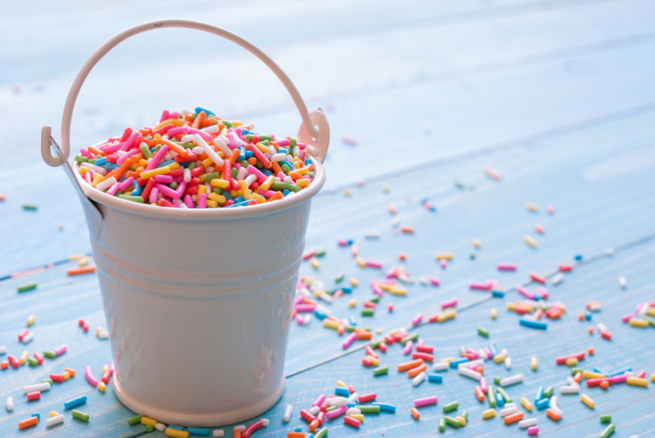 Sugar sprinkle dots, decoration for cake and bakery