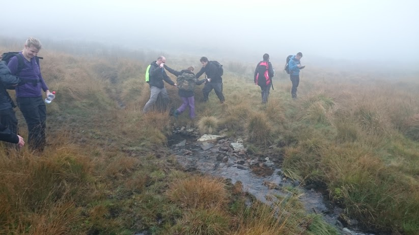 Vertical Leap on Dartmoor during a stream crossing