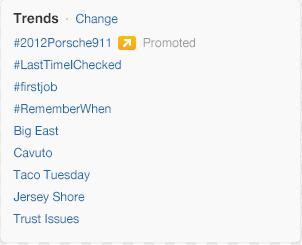Promoted trends from Twitter