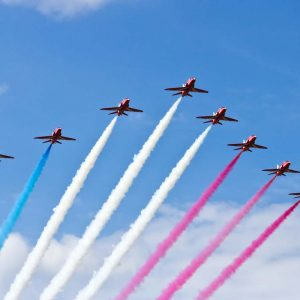The red arrows symbolising SEO tactics
