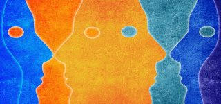Coloured heads image for psychology of Black Friday blog post