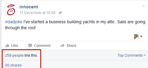 innocent Facebook post