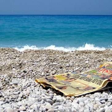 Discarded newspaper