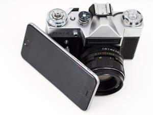 Camera and iPhone