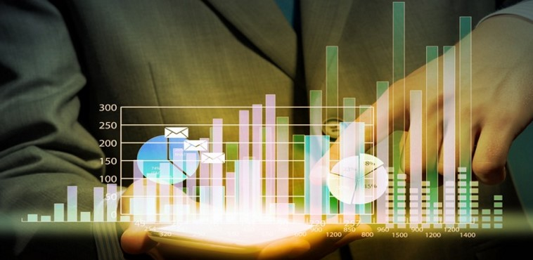 Digital performance charts showing results in SEO