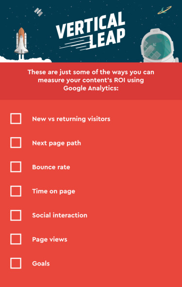 Visual: Some of the ways to measure content ROI