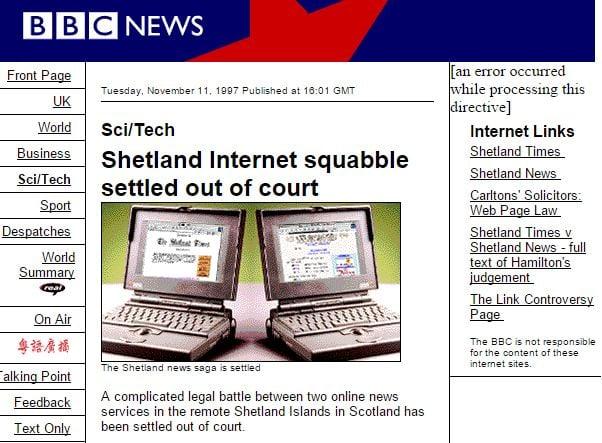 Shetland News v Shetland Times