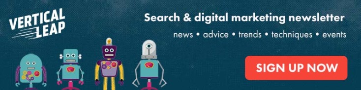 Search and digital marketing newsletter signup