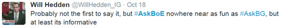 Ask BOE Twitter chat