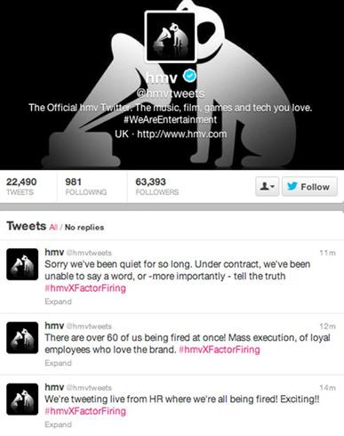 HMV fires social media team