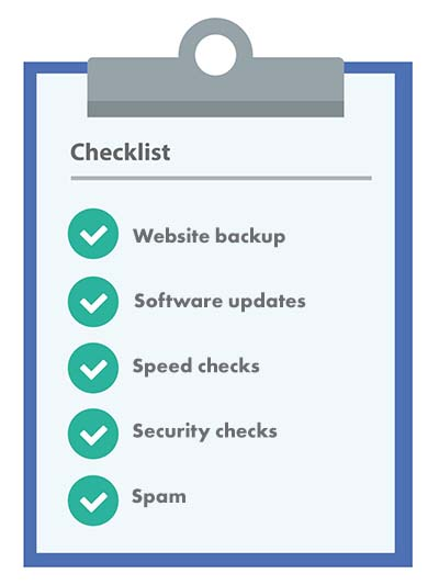 Website retainers checklist