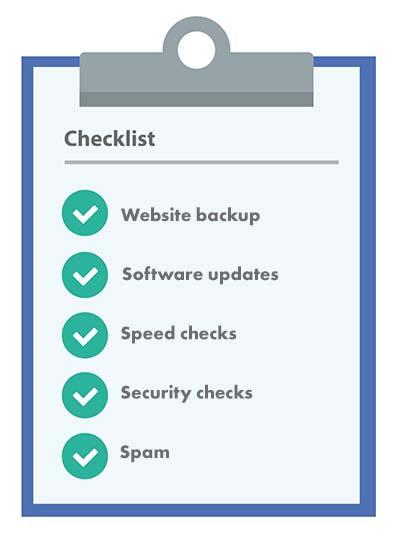 Website retainers checklist