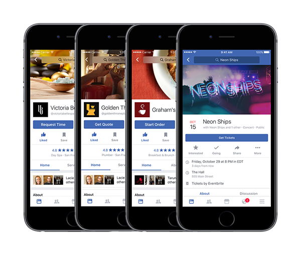 Facebook page conversions