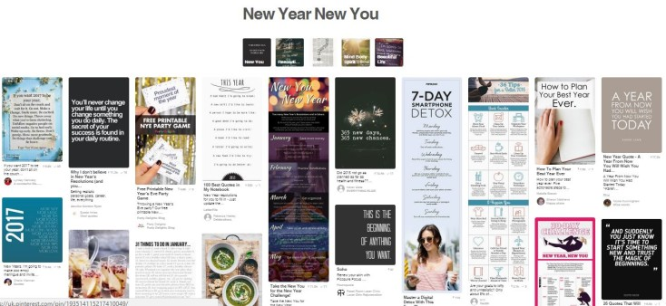 New year New You on Pinterest