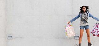 Shopper jumping bags