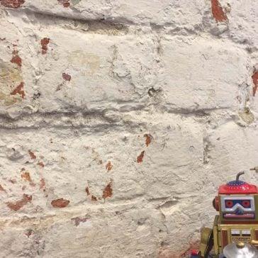 Robots on wall