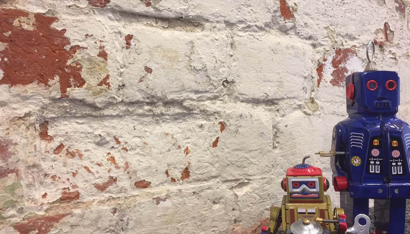 Robots on wall
