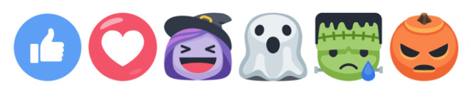 Facebook Reaction buttons for Halloween