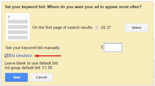Sim keyword bid