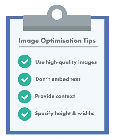 Checklist - image optimisation for SEO