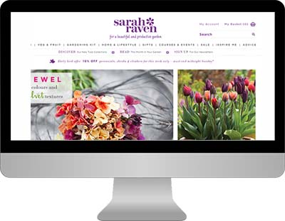 The Sarah Raven website needed SEO help