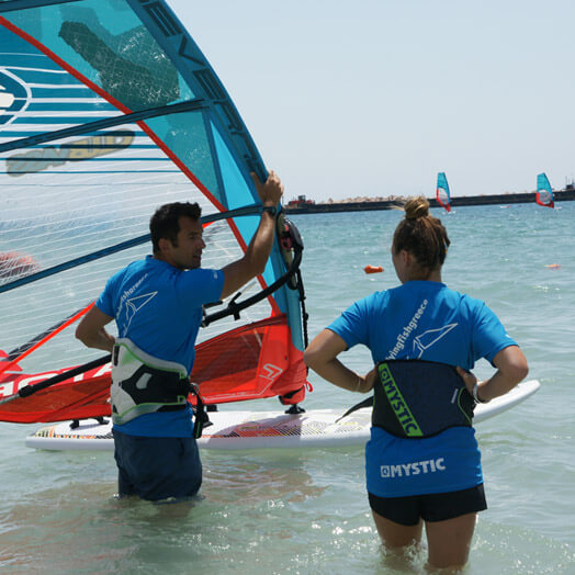 Flying Fish Digital Marketing Case Study - Two People Windsurfing in the sea