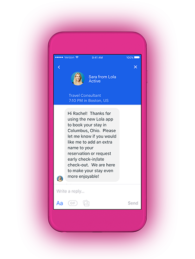 Chatbot for business travellers