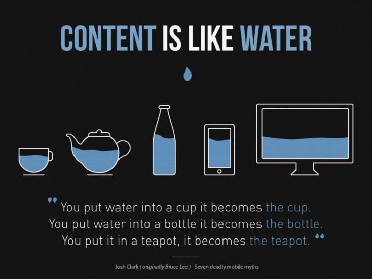 Content is like water - quote by Josh Clark