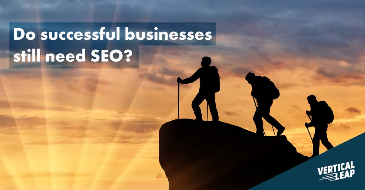 Do successful businesses still need SEO? - Vertical Leap Search