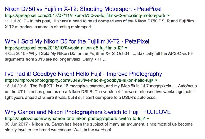 Fujifilm X SEO strategy